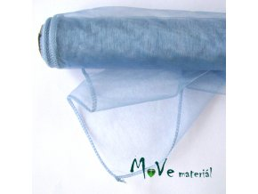 Organza holubí modrá š. 35 cm/ 1m