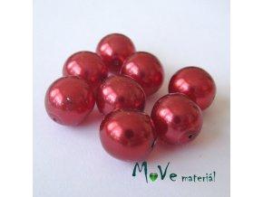 České voskové perle červené 12mm/8ks (cca 20g)