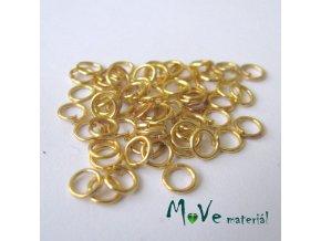 Spojovací kroužek průměr 5mm/3g - cca 64ks, zlatý