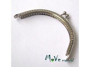 Kabelkový ( peněženkový) rámeček 6x10cm, stříbrný