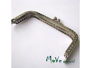 Kabelkový ( peněženkový) rámeček 5x10cm, stříbrný