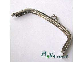 Kabelkový ( peněženkový) rámeček 5x13cm, stříbrný