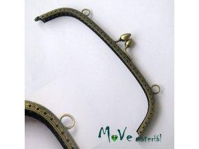 Kabelkový rámeček s uchem 5 x 19 cm, staromosaz
