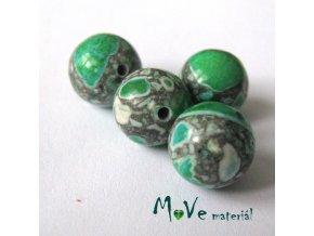 Korálky Marble trávové 10mm 4ks