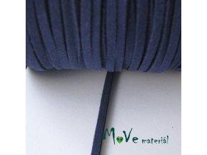 Plochá syntetická kůže, 1m, tmavě modrá