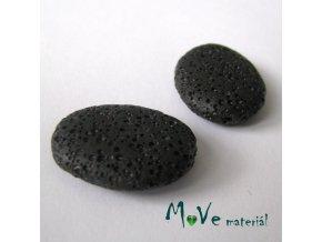 Lávový korálek šváb 20x27x2mm, 1ks, černý