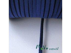 Plochá syntetická kůže, 1m, středně modrá