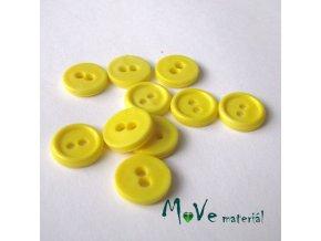 Knoflík košilový - plast 11mm, 10ks, žlutý