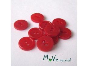 Knoflík košilový - plast 11mm, 10ks, červený