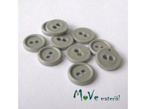 Knoflík košilový - plast 11mm, 10ks, šedý