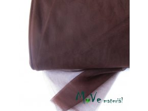 svatební tyl jemný hnědý 50 cm/ š 280cm