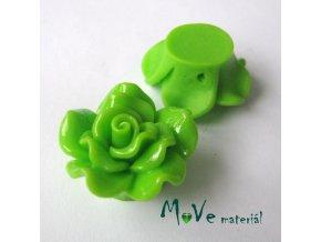 Resinový korálek KVĚT, 1ks, zelený