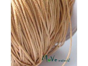Nylonová pletená šňůra - 1mm/3m, písková