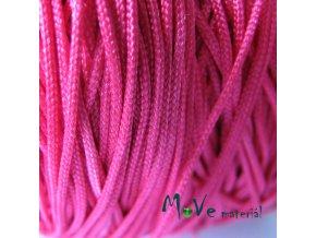 Nylonová pletená šňůra - 1mm/3m, tm růžová