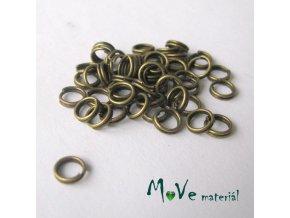 Dvojitý kroužek průměr 4mm, 3g/cca 50ks, staromosaz