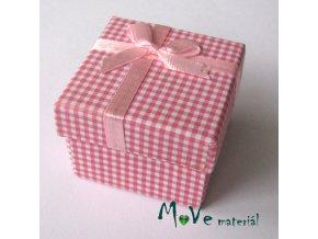 Krabička papírová na prstýnek, sv. růžová