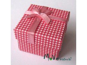 Krabička papírová na prstýnek, červená