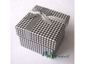 Krabička papírová na prstýnek, černá