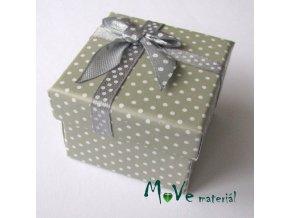 Krabička papírová na prstýnek, šedobéžová