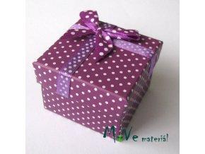 Krabička papírová na prstýnek, fialová
