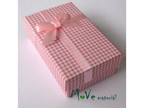 Krabička na šperky - 80x50x25mm, růžová