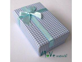 Krabička na šperky - 80x50x25mm, modrá