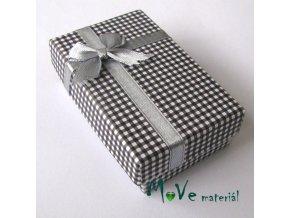 Krabička na šperky - 80x50x25mm, černá