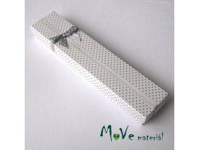 Krabička na šperky - 210x45x25mm, bílá