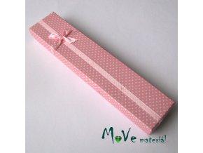 Krabička na šperky - 210x45x25mm, růžová