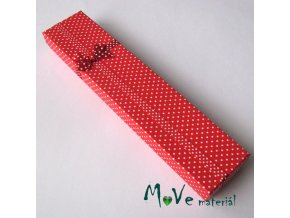 Krabička na šperky - 210x45x25mm, červená