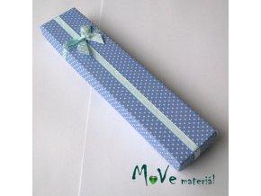 Krabička na šperky - 210x45x25mm, modrá