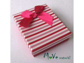 Krabička na šperky - 66x70x22mm, růžová