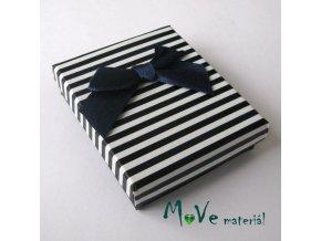 Krabička na šperky - 66x70x22mm, modrá