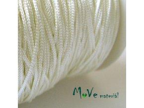 Nylonová pletená šňůra - 1mm/3m, slon. kost