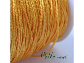 Nylonová pletená šňůra - 1mm/3m, tm. žlutá