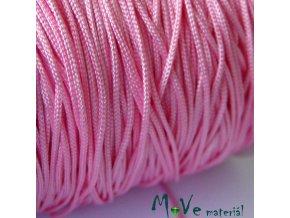 Nylonová pletená šňůra - 1mm/3m, růžová