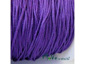 Nylonová pletená šňůra - 1mm/3m, tm. fialová