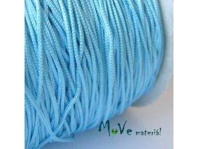 Nylonová pletená šňůra - 1mm/3m, tyrkysová