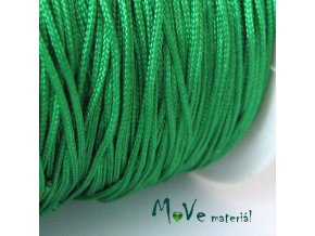 Nylonová pletená šňůra - 1mm/3m, stř. zelená