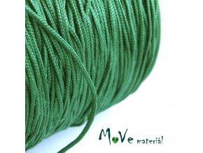 Nylonová pletená šňůra - 1mm/3m, tm. zelená