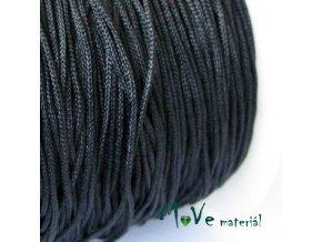 Nylonová pletená šňůra - 1mm/3m, černá
