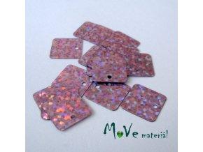 Flitry hladké holograf. 12,5x12,5mm, 16ks, lila