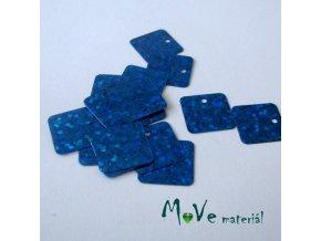 Flitry hladké holograf. 12,5x12,5mm, 16ks, modré