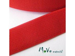 Pruženka hladká š. 20mm tkaná, 1m, červená