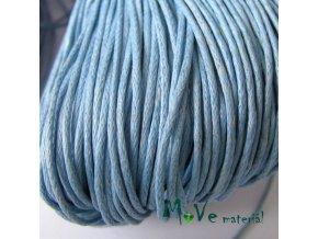 Šňůra voskovaná bavlněná 1mm, 3m, bl. modrá