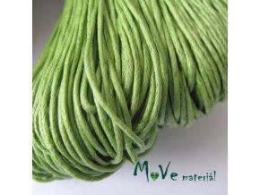 Šňůra voskovaná bavlněná 1mm, 3m, sv. zelená
