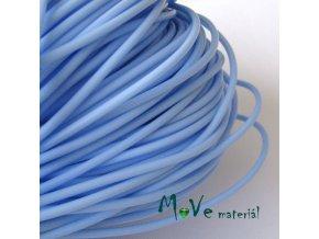 Pryžová šňůra 3mm/1m, světle modrá - dutá