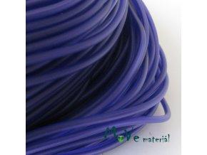 Pryžová šňůra 3mm/1m, tmavě modrá - dutá