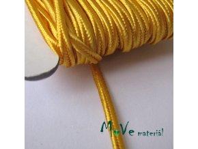 Sutaška š. 3mm viskóza,1m, žlutá