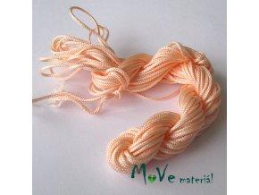 Nylonová pletená šňůra - 2mm/1přadeno, lososová